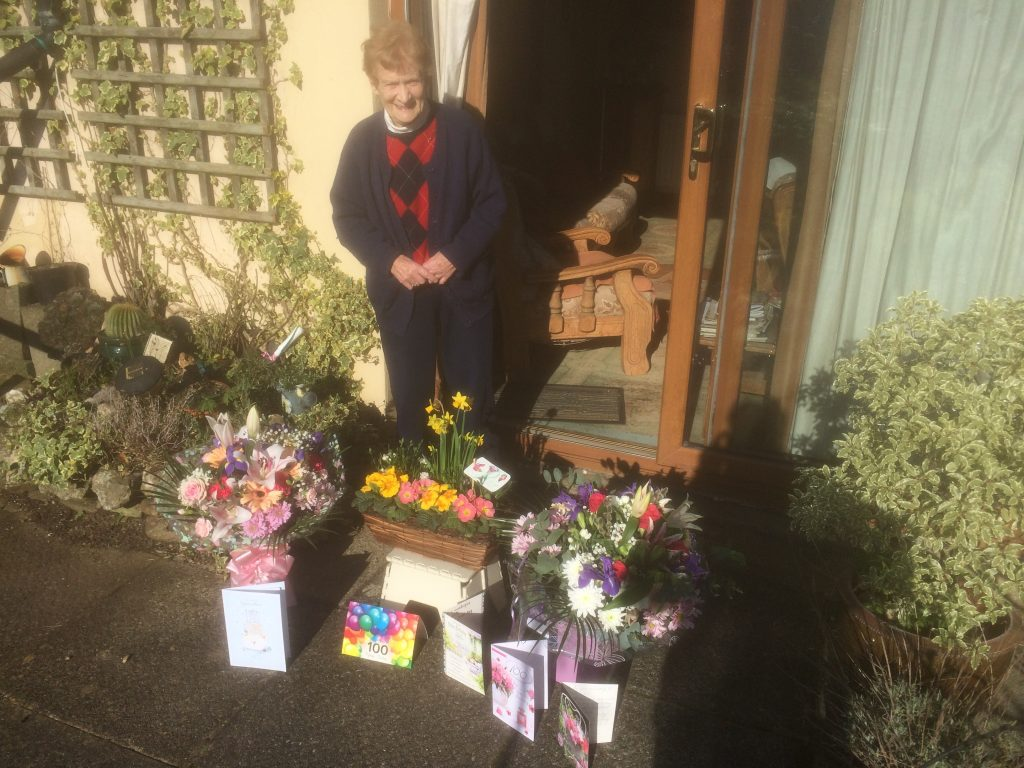 100th Birthday Bouquets and cards